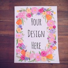 Custom 8x10 Watercolor Print with Floral by ShopPaperAndPosies, $40.00