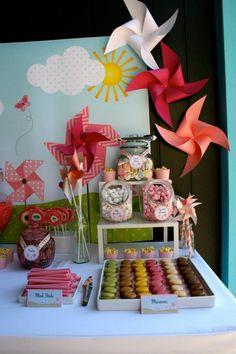 Pinwheel Themed Girl's Birthday Party.