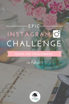 Epic Instagram Challenge: Gain 100 Followers in 7 Days by Solopreneur Sidekick. http://www.solopreneursidekick.com