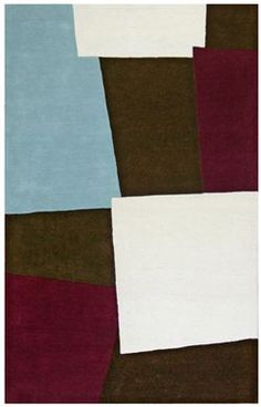 St. Croix 'Structure' CT82 contemporary area rug in brown/multi