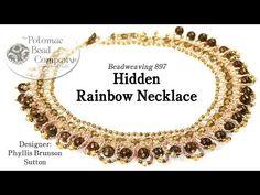 Hidden Rainbow Necklace - YouTube, all supplies from Potomac Bead Company (www.potomacbeads.com)