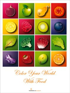 Colors of Health Fruit and Vegetable Poster
