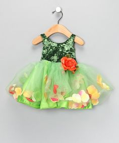 green fairy flower costume, little sweet loves the sparklies on the top