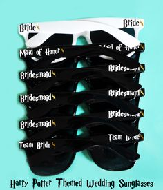 8a852fc3239 Harry Potter Themed Bachelorette Bridal Party Wedding Sunglasses