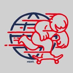 The Art of MEKA — Globetrotter #illustration #skate #logo
