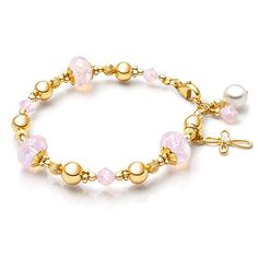 Heaven's Light Baby/Children's Beaded Bracelet - 14K Gold
