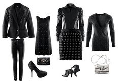 #rock #rocker #black #dress #bag #shoes #glam #glamour #punk #rocker #blazer