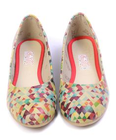 Love this Purple & Aqua Geometric Ballet Flat by Goby on #zulily! #zulilyfinds