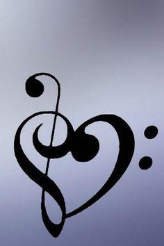 Sol ve Fa anahtarı: Kalp/Aşk