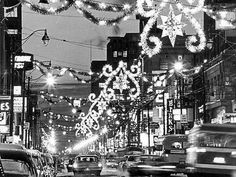 A favourite Calgary tradition — Christmas lights on Stephen Avenue — pictured in 1965
