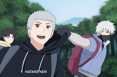Kakashi and his son, Hatake Ken 2 by Hatake-Mina on DeviantArt Naruto Akkipuden, Naruto Free, Naruto Clans, Hatake Clan, Kakashi Hatake, Naruto Wallpaper, Cute Anime Wallpaper, Akatsuki, Boruto And Sarada