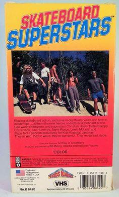 Skateboard Superstars VHS Tape Sk8 Tape VCR Cassette Christian Hosoi Steve Rocco