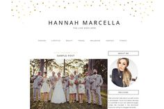Gold Hearts Blogger Template