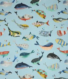 Save on our Pacific Whale Watching Contemporary Fabric. This Regular fabric is perfect for Curtains & Blinds. Printed Curtains, Curtains With Blinds, Curtain Material, Curtain Fabric, Contemporary Fabric, Whale Watching, Nautical Theme, Soft Furnishings, Fabric Design