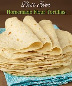 'Best Ever' Homemade Flour Tortillas | Recipe Devil.  Love, love this recipe!  We used them to make breakfast wraps.  So easy and so good!