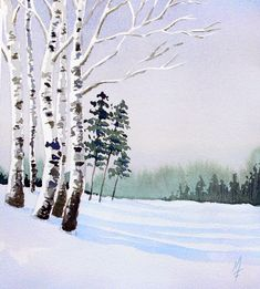 An easy approach to painting a watercolor landscape.