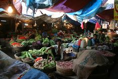 A kitchen market bazaar in Bangladesh