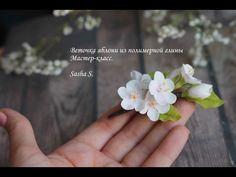 Веточка яблони « Керамическая флористика. Цветы из холодного фарфора. Уроки и мастер-классы