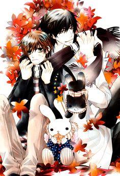 Ritsu x Masamune from Sekai Ichi Hatsukoi Anime Manga, Anime Guys, Anime People, Kawaii Chibi, Hayao Miyazaki, Shounen Ai, Anime Shows, Fujoshi, Digimon
