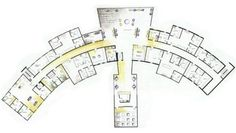 Villa Maria Proposed Second Floor Dormitory contemporary-floor-plan