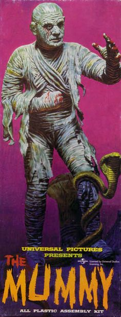 The Aurora 13 - #4 The Mummy (1963). The fourth model kit of the original thirteen monster models produced by Aurora in the early-to-mid sixties.
