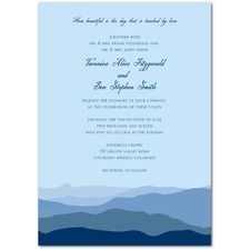 Distant Mountains Wedding Invitations