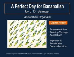 """➡ UPDATED WITH NEW ADDED FEATURES ⚡  """"A Perfect Day for Bananafish"""" by J. D. Salinger is part of our Short Story Annotation Series designed to improve annotation skills, bolster reading comprehension, and cultivate literary appreciation."""