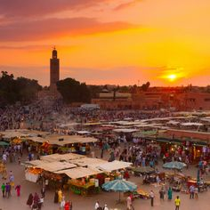 """The most exclusive quarters of Marrakesh  A diamond in the rough (or sand), with the absolute glamour of the riads, charms of magicians in the souks, decadence of its gold-plated tile walls, the richness of its silk curtains. Behind the dusty orange-red clay barricades, in the """"Red City,""""  your great escape awaits …"""