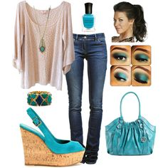 Turquoise, created by liztheshiz on Polyvore
