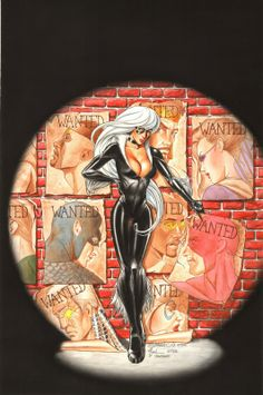 Black Cat by Mark Sparacio, colours by Billy Tucci