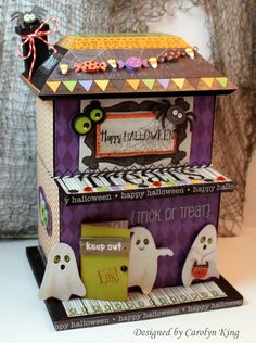 SRM Stickers - @Carolyn King created this fun and fabulous Haunted House using a wooden bird house and logs of fun SRM Stickers including Halloween Borders, Stickers by the Dozen and We've Got Your Sticker Halloween.  Spooktacular!