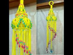 Easy Macrame Jhumar With Easy Tutorial. - YouTube