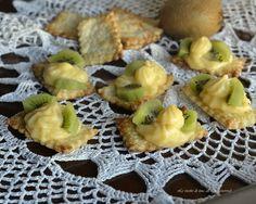 Sfoglie con crema e kiwi