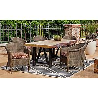 Burlington 7 Piece Dining Set Sam S Club Traditional Outdoor Furniture Modern