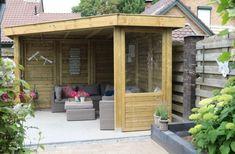 Hillhout Living Modulair   Brand Solide Backyard Gazebo, Garden Gazebo, Backyard Ideas, Garden Ideas, Patio, Garden Living, Home And Garden, Garden Houses, Pergola With Roof