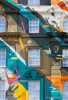 """Marmite"" a graffiti mural painted on the classical facade of Megaro Hotel opposite St Pancras station, London, 2012. The mural was designed and painted by four members of street art collective, Agents of Change. #streetart jd"