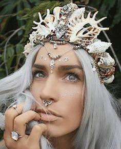 Mermaidcrown van Chelsea Shiels. Hoe tof is dit voor een bruid?!