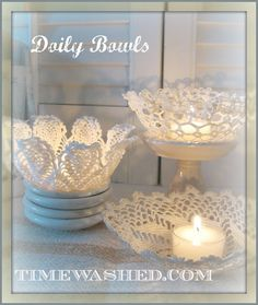 TIMEWASHED: Lacy Bowls