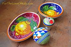 Ceramiche ~ Popular momentos to bring back home are often Italian ceramics. Learn more about Italy at ForTheLoveOfItaly.com