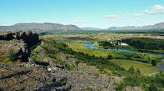 Parque Nacional de Þingvellir, donde se puede ver la separación de las placas tectónicas #Islandia