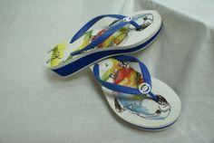 Juicy Couture Platform Flip Flops Sandals Size: 7