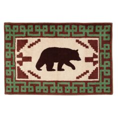 Southwest Black Bear Kitchen/Bath Rug - OVERSTOCK