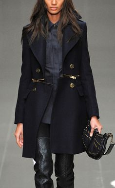 Burberry Prorsum Zip Waist Wool Felt Pea Coat (and a tutorial on how to make your own!)
