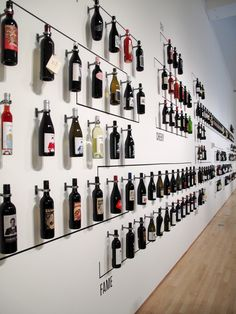 Home Wine Bar . Home Wine Bar . Repurposed Armoire Into Bar with Shiplap Back 10 Wine Wine Bottle Display, Wine Bottle Wall, Wine Bottles, Empty Bottles, Wine Carafe, Wine Rack Wall, Plastic Bottles, Wine Shelves, Wine Storage