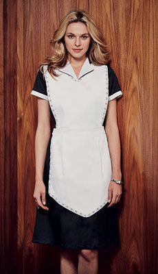 Simon Jersey NEW white lace apron £8.09 // Housekeeping apron, cleaner's apron, waitress apron, host uniform, hospitality uniform, broderie anglaise, white lace, tea apron, vintage apron. Perfect for waitresses, hostesses, front of house staff, catering, retail, cafes, coffee shops, hospitality, hotels, hoteliers, etc.