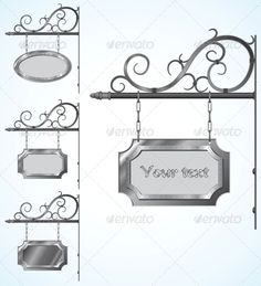 Wrought Iron brackets for Old-Fashioned signs