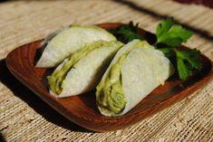Recipe for Guaco Taco Grain-Free Finger Foods - jicama shell tacos Wrap Recipes, Raw Food Recipes, Healthy Recipes, Eat Healthy, Healthy Meals, Gluten Free Wraps, Dairy Free Recipes, Cilantro, Guacamole