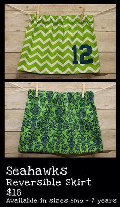 Seahawks Reversible Skirt www.facebook.com/stellaandlily