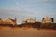 moon over beach homes