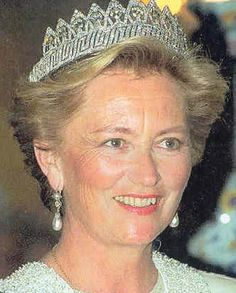 Queen Fabiola's Nine Provinces Tiara worn by Queen Paola of Belgium.